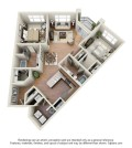 Langtree Apartments-Floor Plan-The Baja