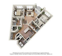 Langtree Apartments-Floor Plan-The Baja-Thumbnail