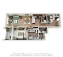 Langtree Apartments-Floor Plan-The Cobalt-Thumbnail