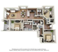 Langtree Apartments-Floor Plan-The Donzi-Thumbnail