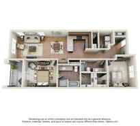 Langtree Apartments-Floor Plan-The Sierra-Thumbnail