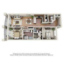 Langtree Apartments-Floor Plan-The Stingray-Thumbnail